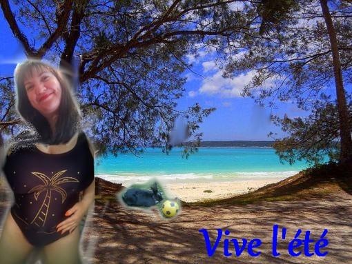 Sabine à la plage