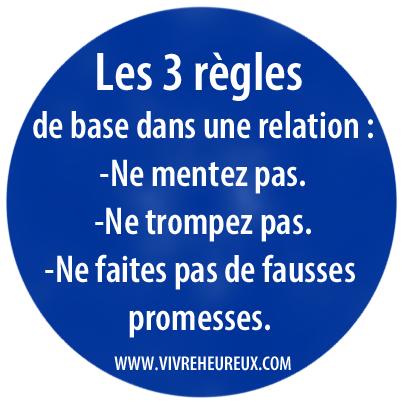 3 regles relation